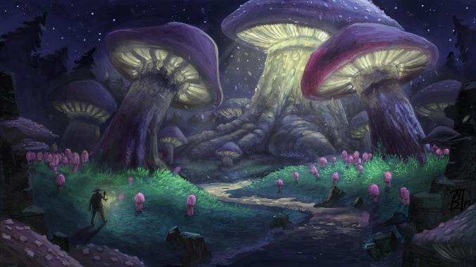 mushroom_forest_by_niksibaksen-d5jvw8e